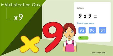 Table De Multiplication De 9 Jeux Et Cours  Astuce Table De 9