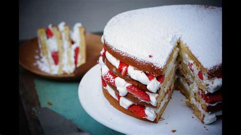gateau au yaourt facile facon layer cake aux fraises youtube