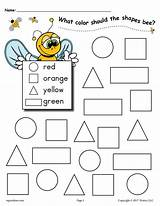 Shapes Worksheet Worksheets Bee Coloring Pages Preschool Activities Themed Shape Printables Kindergarten Summer Practice Colors Recognition Printable Preschoolers Numbers Supplyme sketch template