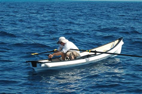 Skiff Boat Rowing by River Marine Row Boats Rowing Skiffs Sliding