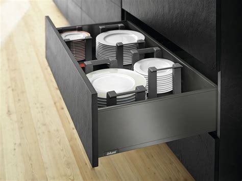 legrabox pure   kitchen plate application drawer
