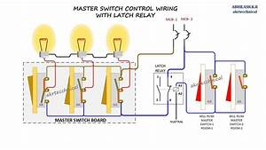 Master Control With Latching Relay Connection Diagram