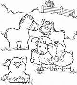 Coloring Farm Animal Printable sketch template