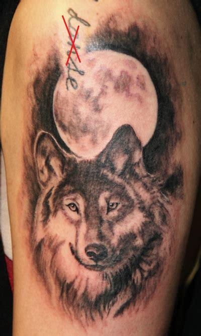 wolf moon tattoo