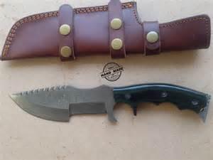 folding kitchen knives damascus tracker knife custom handmade damascus tracker knife