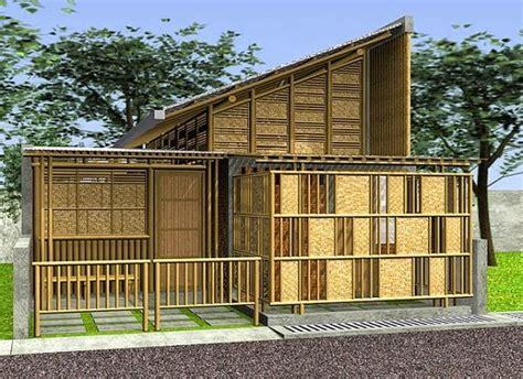 desain rumah bambu bergaya minimalis modern