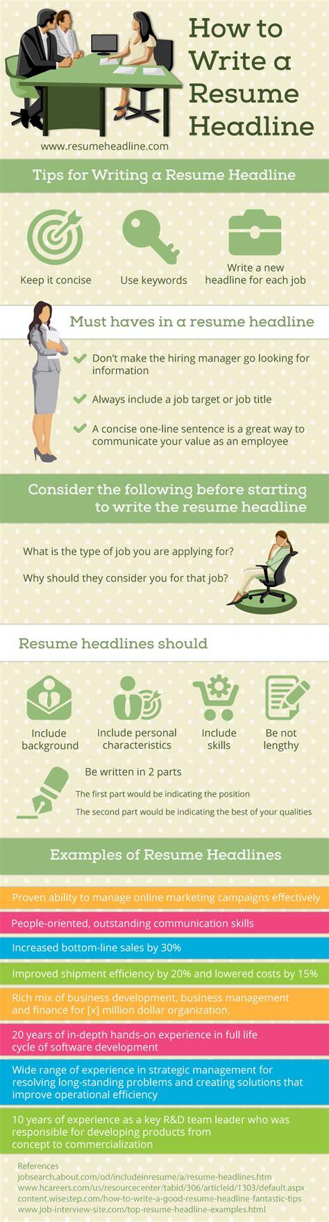 writing a resume headline resume title