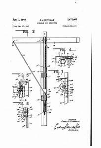 Patent Us2472602 - Overhead Door Structure