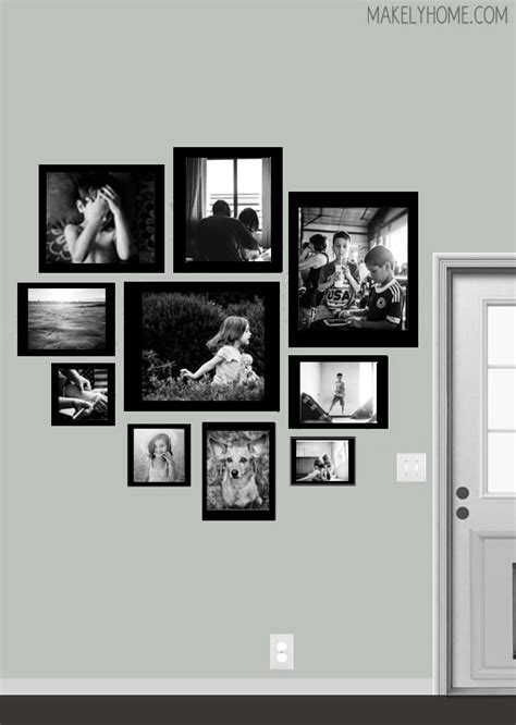 kitchen gallery wall s blank wall a new digital gallery wall design