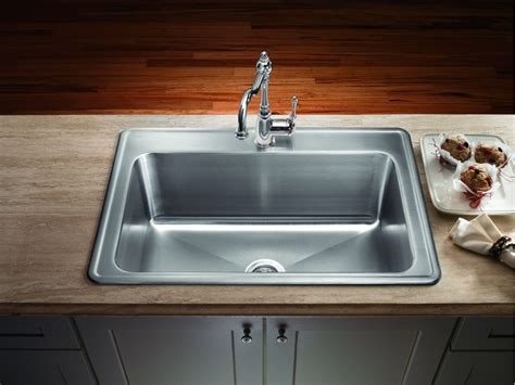 stainless steel sinks kitchen stainless steel drop in kitchen sinks the homy design 5736