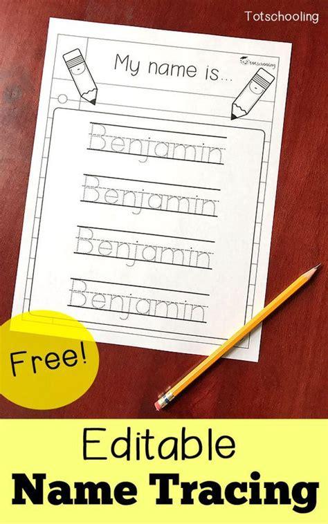 editable  tracing sheet preschool writing preschool