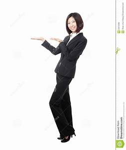 Full Length Business Woman Introducing Stock Photo - Image ...