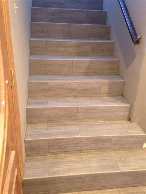 tile flooring on stairs wood tile stairs tile design ideas
