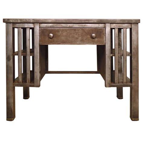 vintage industrial desk l vintage industrial metal desk at 1stdibs