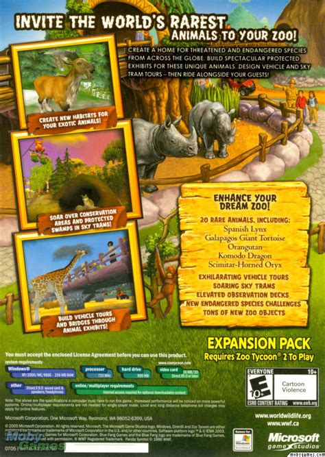 tycoon zoo species endangered expansion
