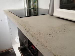plan de travail beton brut de decoffrage With plan de travail exterieur en beton