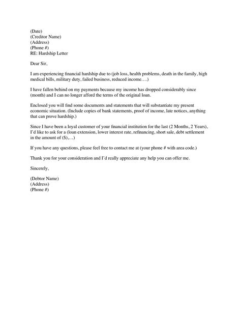 Dropping In Cover Letter by Financial Hardship Letter Template Mortgage