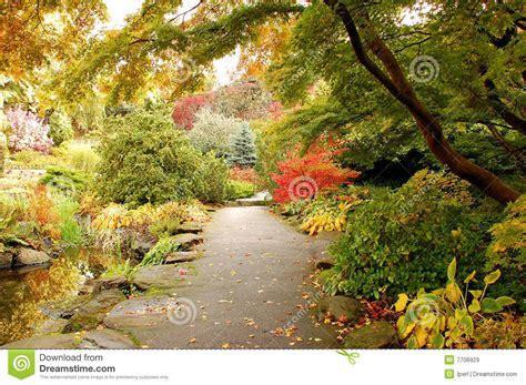 Botanischer Garten Im Herbst Stockbild  Bild 7706929