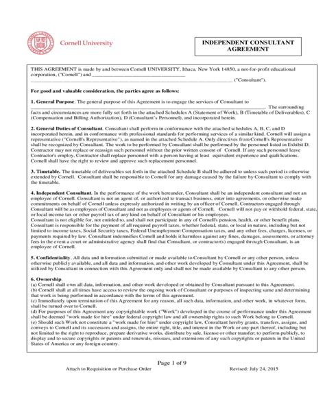 consulting agreement form fillable printable
