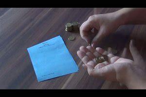 video muenzen rollen  wickeln sie muenzen  papier