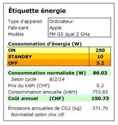 Calcul Consommation Electrique D Un Appareil : consommation lectrique des principaux macs ~ Dailycaller-alerts.com Idées de Décoration