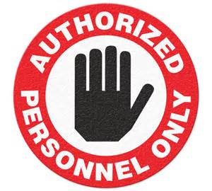 GHS Safety FS1000V Authorized Personnel Only Floor Sign