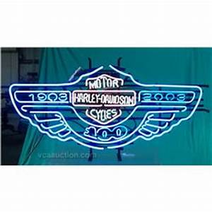 Harley Davidson Motorcycle Neon Sign 100th Anniversary