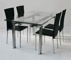 Table Haute En Verre : table design verre acier miranda zd1 tab r d ~ Teatrodelosmanantiales.com Idées de Décoration