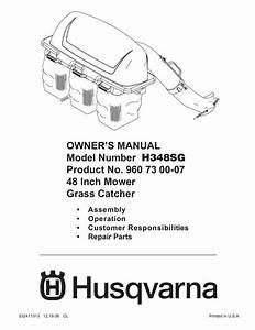Husqvarna H348sg User U0026 39 S Manual