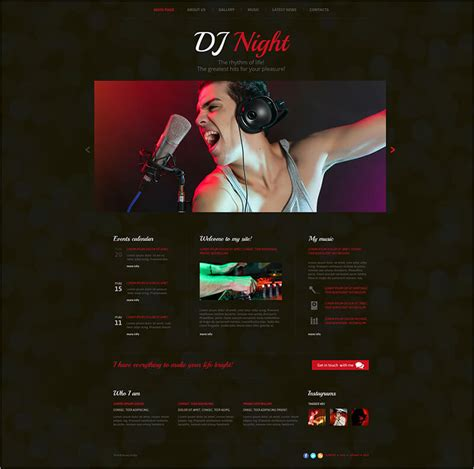 Dj Website Templates 15 Dj Html Website Templates Free Website Themes