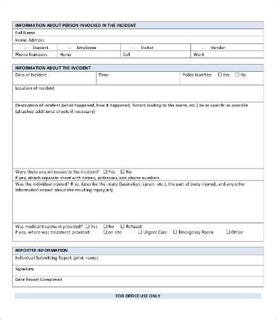 Person Report Template by Report Template 9 Free Word Pdf Documents