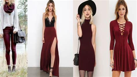 Imagenes de ropa para toda outfits color vino looks para toda ocasi 211 n youtube