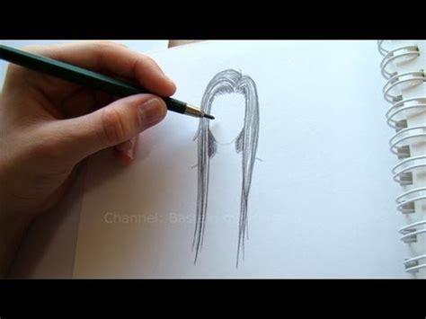 zeichnen lernen haare zeichnen einfache frisur malen