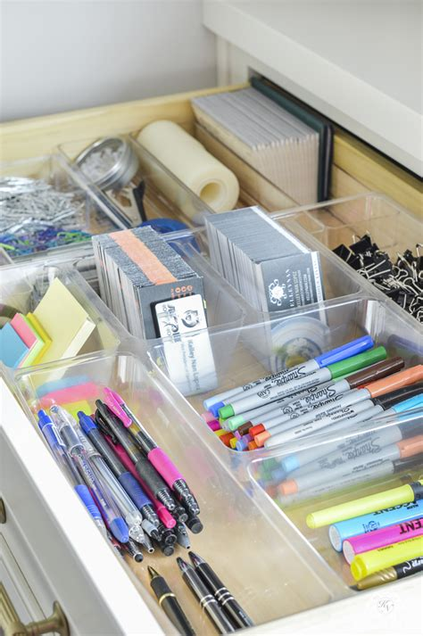 office desk storage ideas organized and functional office supply drawers kelley nan