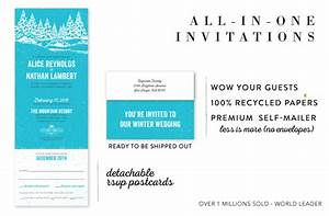 all in one wedding invitations send and seal wedding With all in one wedding invitations recycled