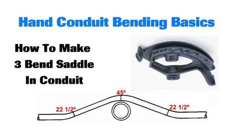 Conduit Bending Basics Bend Saddle Youtube