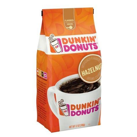 I have a bag of dunkin donuts hazelnut ground coffee. Dunkin' Donuts Hazelnut Light Roast Ground Coffee - 12oz : Target