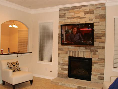 Fireplace With Tv Above by Superb Fireplaces With Tv 6 Wall With Tv Above