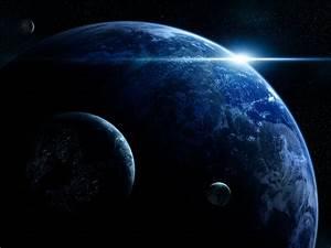 Background wallpaper, Blue planet