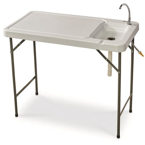 folding fish cleaning table guide gear folding fish game cleaning table with sink