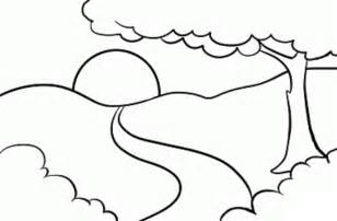 mountain landscape coloring pages landscapes coloring part 6 - Mountain Landscape Coloring Pages