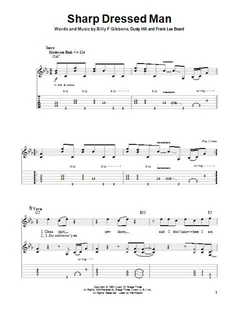 la grange chords and lyrics sharp dressed sheet direct