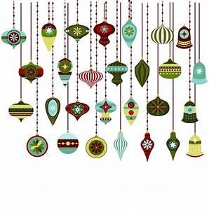 Retro Christmas Ornaments Vector Clipart Stock Vector ...