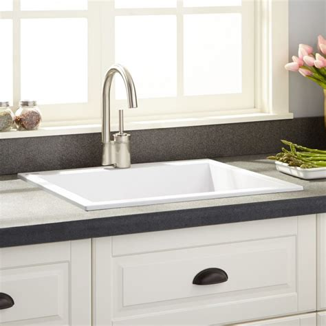 white granite composite sink 22 quot holcomb drop in granite composite sink cloud white