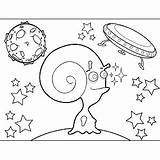 Alien Horns Space Curly Coloring sketch template