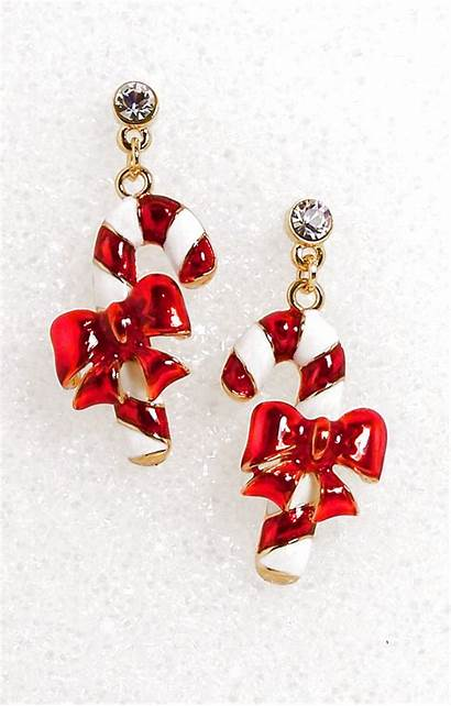 Candy Cane Earrings Christmas Business