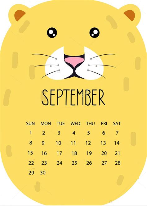 cute september  calendar   calendar design