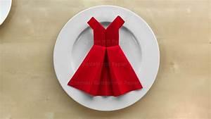 Basteln Mit Servietten : servietten falten kleid einfache tischdeko basteln mit papier servietten youtube ~ Buech-reservation.com Haus und Dekorationen