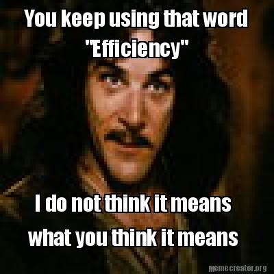 Do You Use The Word I In A Resume by Meme Creator You Keep Using That Word Quot Efficiency Quot I Do Not Think It Means What You Think It