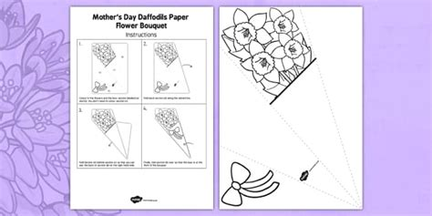 ks mothers day paper daffodils bouquet